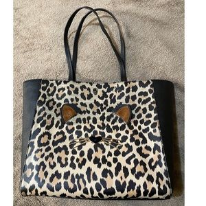 Kate Spade Leather Leopard Tote Bag